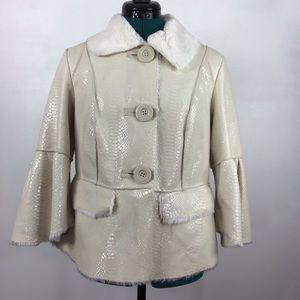 Rachel Zoe Faux Alligator Coat XS